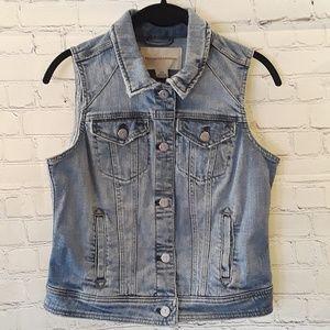 Pilcro & the Letterpress cropped denim vest size S